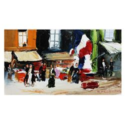 "Shalva Phachoshvili- Original Oil on Canvas ""A Tourist Place"""