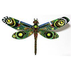"Patricia Govezensky- Original Painting on Cutout Steel ""Dragonfly XIV"""