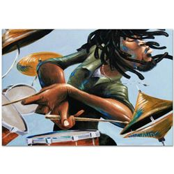 """""""Dreads And Drums"""" Limited Edition Giclee on Canvas by David Garibaldi, E Numbered and Signed with C"""