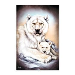 """""""Polar Bears"""" Limited Edition Giclee on Canvas by Martin Katon, Numbered and Hand Signed with COA. T"""