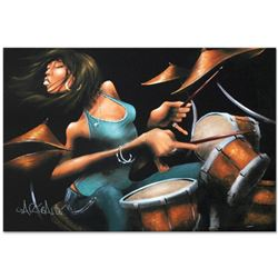 """""""Lola Beats"""" Limited Edition Giclee on Canvas (36"""" x 24"""") by David Garibaldi, AP Numbered and Signed"""