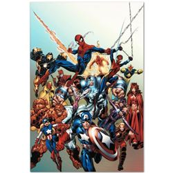 """Marvel Comics """"Last Hero Standing #1"""" Numbered Limited Edition Giclee on Canvas by Mark Bagley with"""