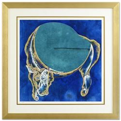 """Lu Hong, """"Taurus"""" Framed Limited Edition Giclee, Numbered and Hand Signed with COA."""