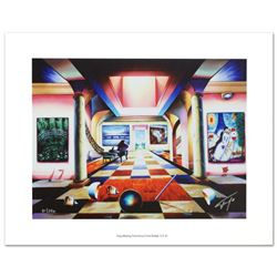 """""""Melting Time Across from Bridge"""" Limited Edition Giclee on Canvas by Ferjo, Numbered and Hand Signe"""