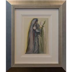 """Salvador Dali- Original Color Woodcut on B.F.K. Rives Paper """"Heaven Canto 32"""""""