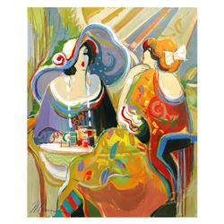 "Isaac Maimon, ""Golden Fest"" Original Acrylic Painting, Hand Signed with Certificate of Authenticity."