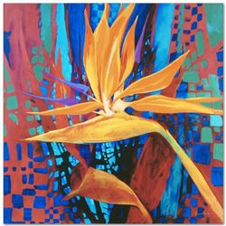 """Bird of Paradise"" Limited Edition Giclee on Canvas by Simon Bull, Numbered and Signed with COA. Thi"