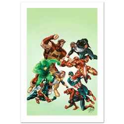"""""""New Thunderbolts #3"""" Limited Edition Giclee on Canvas by Tom Grummett and Marvel Comics. Numbered a"""