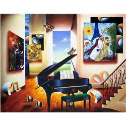 """Ferjo """"LOVER'S SONG"""" Giclee on Canvas"""