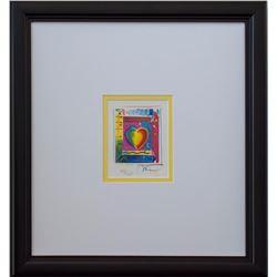 "Peter Max- Original Lithograph ""Heart Series III"""