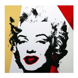 """Andy Warhol """"Golden Marilyn 11.37"""" Limited Edition Silk Screen Print from Sunday B Morning."""