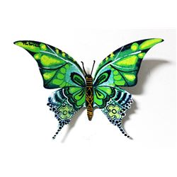 "Patricia Govezensky- Original Painting on Cutout Steel ""Butterfly CXXXII"""