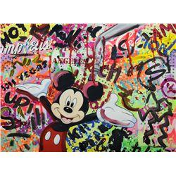 """Nastya Rovenskaya- Mixed Media """"Party with Mickey"""""""