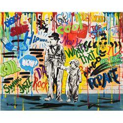 """Nastya Rovenskaya- Mixed Media """"Wanna be like Chaplin"""""""