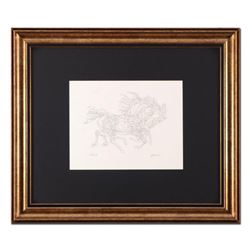 """Guillaume Azoulay, """"Pen and Ink AB"""" Framed Original Drawing, Hand Signed with Letter of Authenticity"""