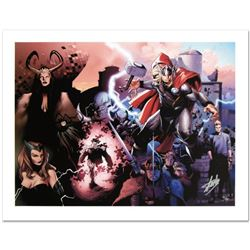 """""""Thor #600"""" Limited Edition Giclee on Canvas by Oliver Coipel and Marvel Comics. Numbered and Hand S"""