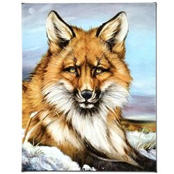 """""""Fantastic Fox"""" Limited Edition Giclee on Canvas by Martin Katon, Numbered and Hand Signed with COA."""