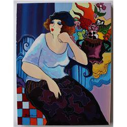 "Patricia Govezensky- Original Acrylic On Canvas ""DONA REMEMBERS"""