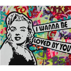 "Nastya Rovenskaya- Original Oil on Canvas ""I Wanna Be Loved By You"""