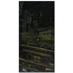 """""""Roof Party"""" Limited Edition Giclee on Canvas (24"""" x 48"""") by David Garibaldi, E Numbered and Signed"""