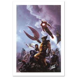 """""""New Avengers #45"""" Limited Edition Giclee on Canvas by Aleksi Briclot and Marvel Comics. Numbered an"""