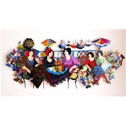 "Patricia Govezensky- Original Painting on Cutout Steel ""Mesdemoiselles"""