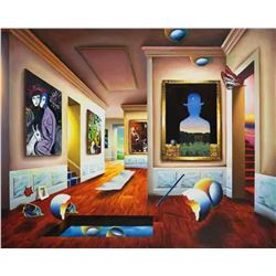 """Ferjo """"INTERIOR WITH MAGRITTE"""" Giclee on Canvas"""