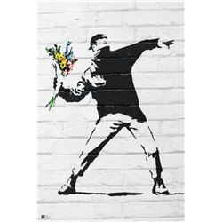 """Banksy """"Flower Bomber"""" 24x36 in. Offset Lithograph"""