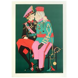 """""""Corporal Benedikt & Grand Duke Victor"""" Limited Edition Lithograph by Denis Paul Noyer, Numbered and"""