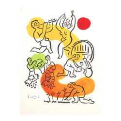 "Wayne Ensrud ""Four Stages of Wine 2"" Mixed Media Original Artwork; Hand Signed; COA"