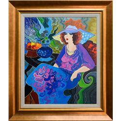 "Patricia Govezensky- Original Acrylic on Canvas ""Suzzy"""