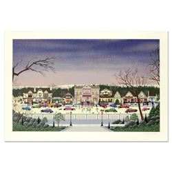 """Nobuo Watanabe, """"Christmas In Cambria"""" Limited Edition Serigraph, Numbered and Hand Signed with Lett"""