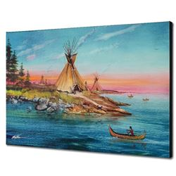 """""""Tipi Territory"""" Limited Edition Giclee on Canvas by Martin Katon, Numbered and Hand Signed with COA"""