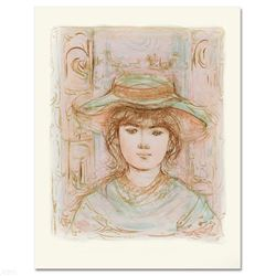 """January"" Limited Edition Lithograph by Edna Hibel (1917-2014), Numbered and Hand Signed with Certif"
