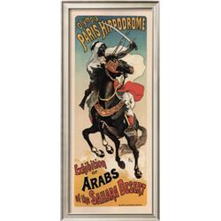 "Theophile Alexandre Steinlen ""Olympia Paris Hippodrome: Exhibition of Arabs"" Custom Framed Offset Li"