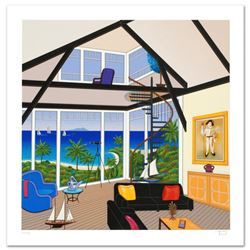"""Duplex Over Stinson"" Limited Edition Serigraph by Fanch Ledan, Numbered and Hand Signed with Certif"