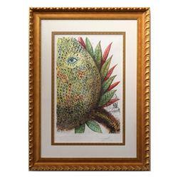 "Salvador Dali- Etching ""Vegetation Inedit (Pineapple)"""