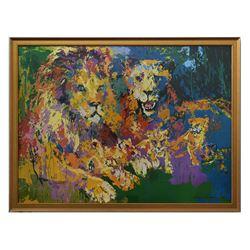 "LeRoy Neiman- Offset Lithograph ""Lions Pride"""