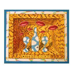 """Wayne Ensrud """"L'Amour"""" Mixed Media Original Artwork; Hand Signed; COA"""