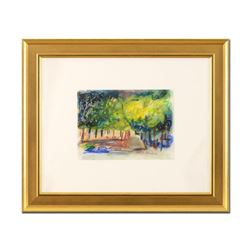 "Judith Bledsoe (1928-2013), ""Summer Evenings"" Framed Original Pastel Painting, Hand Signed with Lett"