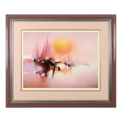 "H. Leung, ""Morning Sun"" Framed Limited Edition, Numbered 371/1000 and Hand Signed with Letter of Aut"