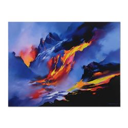 """Thomas Leung, """"River of Fire"""" Hand Embellished Limited Edition on Canvas, Numbered 70/100 and Hand S"""
