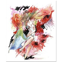 """Lena Sotskova, """"Just Dance"""" Mixed Media Original Painting, Hand Signed and with COA."""