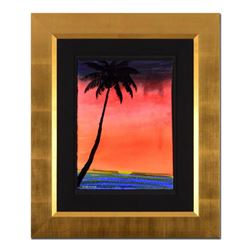 """Wyland, """"Paradise"""" Framed Original Watercolor Painting, Hand Signed with Certificate of Authenticity"""