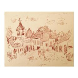 "Wayne Ensrud ""Domaine Comte Georges de Vogue, Burgundy"" Pastel Original Artwork; Hand Signed; COA"