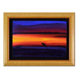 """Wyland, """"Dolphin"""" Framed Original Watercolor Painting, Hand Signed with Certificate of Authenticity."""
