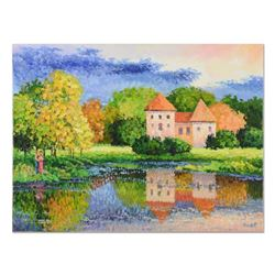 """Alexander Antanenka, """"House Reflection"""" Original Oil Painting on Canvas, Hand Signed with Certificat"""