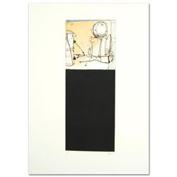 """Babak Emanuel """"Rendition Diary IV"""" Hand Signed One-of-a-Kind Monoprint, Numbered 1/1"""
