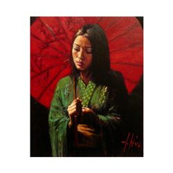 "Fabian Perez, ""Michiko VI"" Hand Textured Limited Edition Giclee on Canvas. Hand Signed and Numbered"