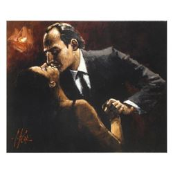 "Fabian Perez, ""Embrace Of Tango"" Hand Textured Limited Edition Giclee on Canvas. Hand Signed and Num"